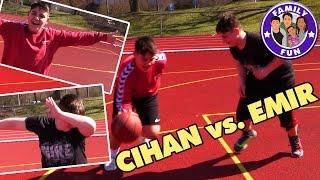 CIHAN VS.FREUND CHALLENGE | DAS GROßE Basketball DUELL | FAMILY FUN