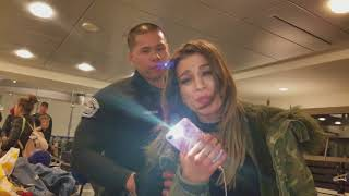 A women harassing and calling tony vera names thank god for the closed-circuit cameras at lax