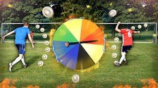 GLÜCKSRAD Elfmeter Fußball Challenge + BESTRAFUNG 😱🔥