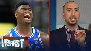 Nick Wright on Steve Kerr comparing Duke's Zion Williamson to LeBron   NBA   FIRST THINGS FIRST