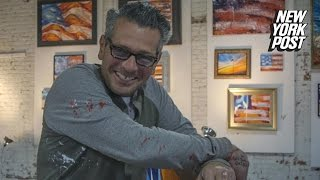Patriotic artist throws his own art show so people buy his f***ing paintings -- for charity