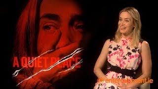"Emily Blunt on her ""secret language"" with John Krasinski | A Quiet Place"