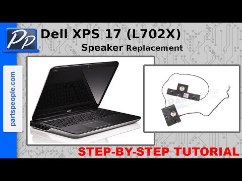 Dell XPS 17 (L702X) Speaker Replacement Video Tutorial Teardown