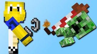 Minecraft Rakete vs Mobs! (Living Fireworks Mod) [Deutsch]