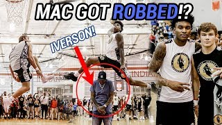 Mac McClung Goes BETWEEN THE LEGS In ALLEN IVERSON JERSEY! Insane Dunk Contest With Kevin Porter 😵