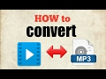 How to convert video to mp3| mp3 to vide...mp3