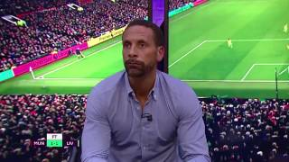 Rio FERDINAND reaction to the GOAL from IBRAHIMOVIC • 1:1 LFC vs ManU