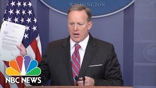 Sean Spicer: '100% False' White House Blocked Sally Yates Testimony | NBC News