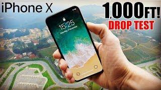 iPhone X Drop Test - 1000 FEET!! | Did it survive? | in 4K!