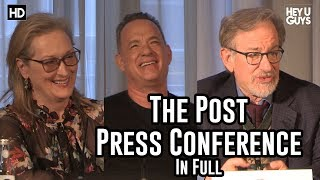 The Post Press Conference - Steven Spielberg, Tom Hanks & Meryl Streep