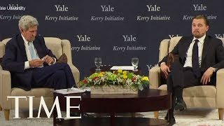 Leonardo DiCaprio Talks With John Kerry About America