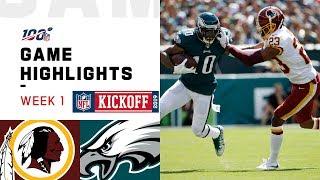 Redskins vs. Eagles Week 1 Highlights   NFL 2019
