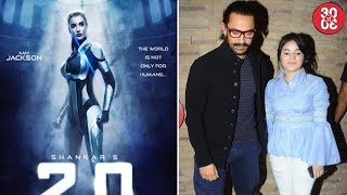 Amy Reveals Her First Look From 'Robot 2.0' | Aamir, Zaira Promote 'Secret Superstar' At An Event