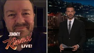 Jimmy Kimmel Interviews Super Humble Ricky Gervais