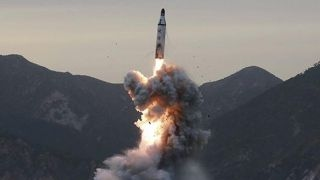 North Korean test launch fails, missile falls apart