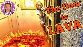 THE FLOOR IS LAVA - Wir spielen DER Boden IST LAVA :-) | MILEYS WELT