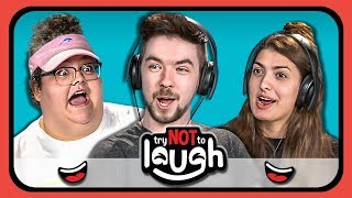 YouTubers React to Try to Watch This Without Laughing or Grinning #20