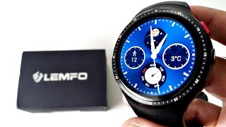 2017 Powerful Android Smart Watch LEMFO LES1  - QUAD CORE - 16GB - AMOLED