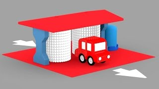 Lehrreicher Zeichentrickfilm - Die 4 kleinen Autos - Ab in die Waschanlage