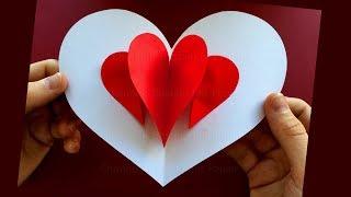 Pop Up Karte: Herz ❤ Basteln mit Papier ❤ Bastelideen zum DIY Geschenke selber machen