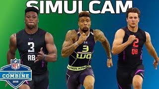 40-Yard Dash Simulcam: OBJ vs. DJ Clark, Barkley vs. Zeke & More! | NFL Combine Highlights