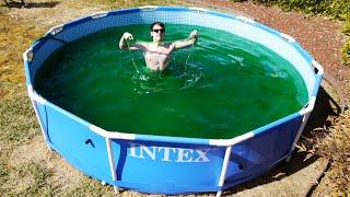 Taking a Bath in a Giant 1,500 Gallon Gooey Slime Baff Swimming Pool!