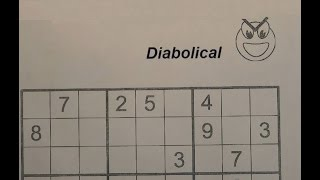 Solve Diabolical Sudoku Puzzles - Very Hard