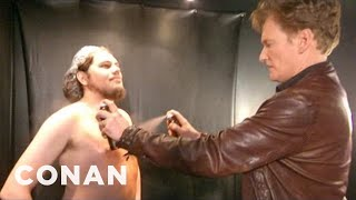 Conan Visits A Spray Tanning Salon & Gets A Weave - CONAN on TBS