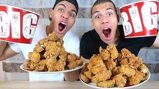 100 HOT WINGS KFC CHALLENGE !!! | PrankBrosTV