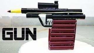 How to Make a Powerful Gun using Sketch Pen that shoots