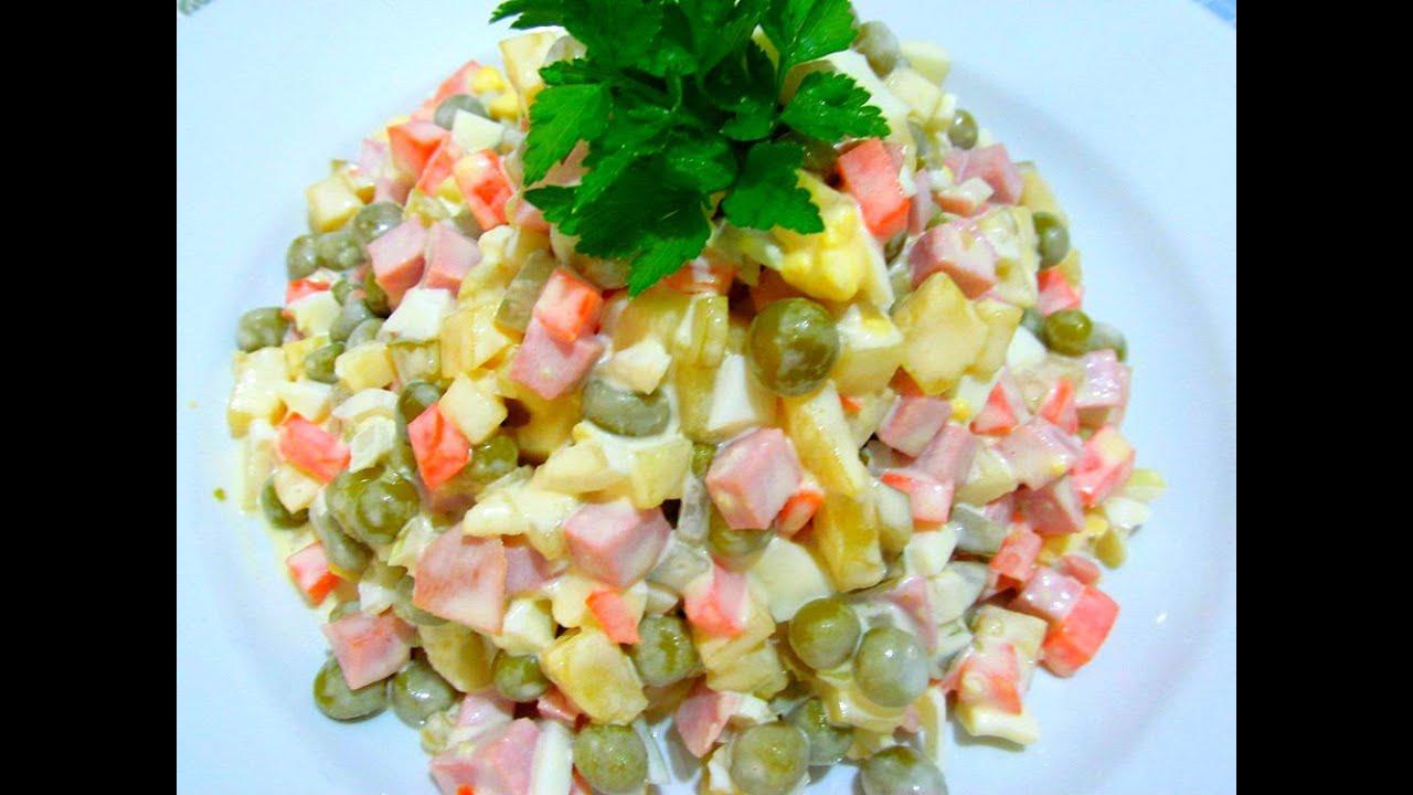 Вкусный салат оливье