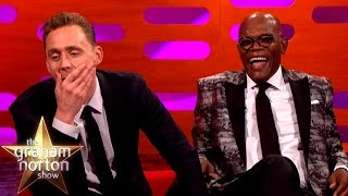Samuel L Jackson and Tom Hiddleston Lose it Over Their Fan Art - The Graham Norton Show