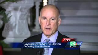 Brown wins historic fourth term as California