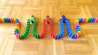 DOMINOES FALLING Chain Reaction - ODDLY SATISFYING VIDEO [COOL]
