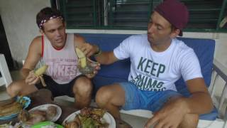 British Friend Buys and Tries Strange Filipino Food