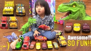 Disney CARS 3 Diecast, T-REX Dinosaur Toy, RC Lightning McQueen, Kiddie Truck Ride and More!