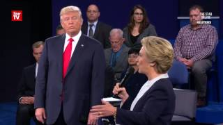 Emotions run high at second U.S. presidential debate