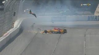 IndyCar Series 2017. Qualifying Pocono Raceway. Ryan Hunter-Reay Hard Crash