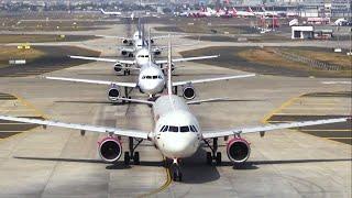 Morning traffic at Mumbai Airport - India Flights