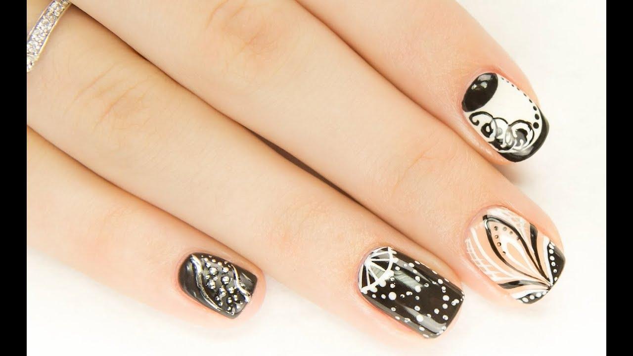 Экспресс дизайн ногтей гель лаком
