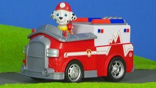 PAW PATROL deutsch: Feuerwehrmann Marshall PUPS für Kinder | Feuerwehrauto & Bagger Kinderfilm