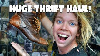 LARGE AMAZING THRIFT HAUL!  DESIGNER CLOTHES!