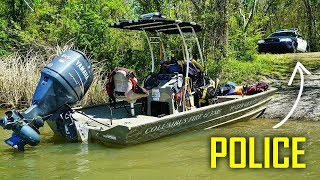 Helping Search & Rescue Teams Locate Two Drowned People in River (Bodies Recovered)