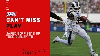 Jared Goff Marches Downfield to Setup Gurley's TD