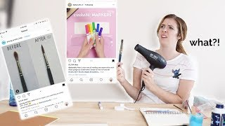 ARTIST TESTS INSTAGRAM ART HACKS!?!