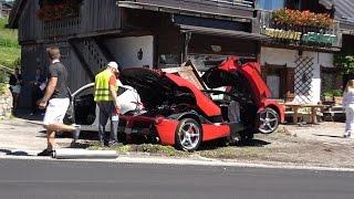 Laferrari CRASHES ONTO ROCK - Ferrari 2016 Cavalcade