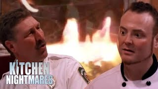 Chef Gets Roasted By Firemen   Kitchen Nightmares