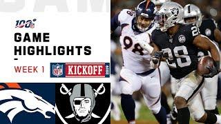 Broncos vs. Raiders Week 1 Highlights   NFL 2019