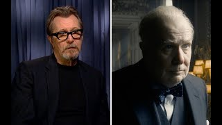 Gary Oldman stayed in full Winston Churchill makeup on the set of Darkest Hour