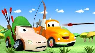 Mat ist Robin Hood - Die Lackierwerkstatt von Tom dem Abschleppwagen in Car City 🎨 Cartoons kinder